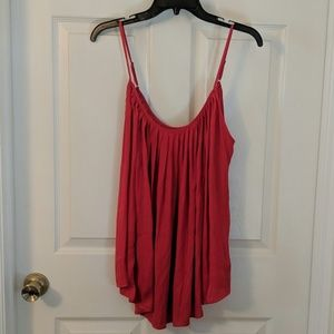 Gap Pleated Red Cami Top